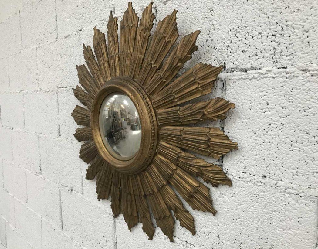 Ancien miroir soleil sorci re en bois ann e 60 - Miroir sorciere ancien ...